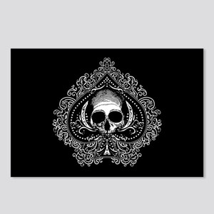 Skull Ace Of Spades Postcards (Package of 8)