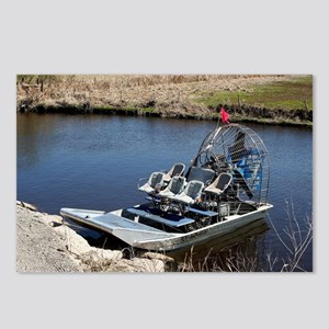 Florida swamp airboat 2 Postcards (Package of 8)