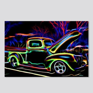 1940 Ford Pick up Truck Neon Postcards (Package of
