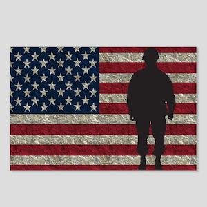 USFlag Soldier YS Postcards (Package of 8)