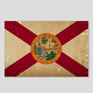 Florida State Flag VINTAGE Postcards (Package of 8