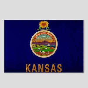 Kansas State Flag VINTAGE Postcards (Package of 8)