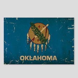 Oklahoma State Flag VINTAGE Postcards (Package of