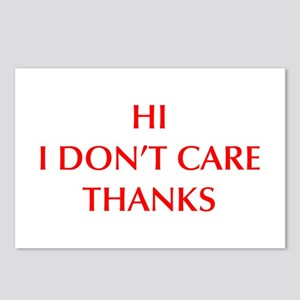 HI-I-DONT-CARE-OPT-RED Postcards (Package of 8)