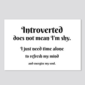 Introvert I'm Not Shy Postcards (Package of 8)