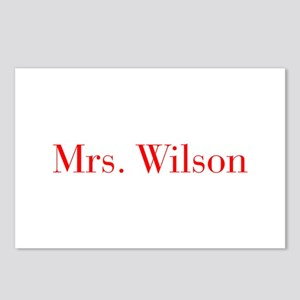Mrs Wilson-bod red Postcards (Package of 8)