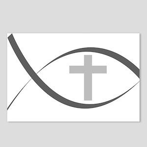 jesus fish_reverse Postcards (Package of 8)