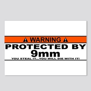 protected by 9mm Postcards (Package of 8)