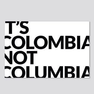 IT'S COLOMBIA NOT COLUMBI Postcards (Package of 8)