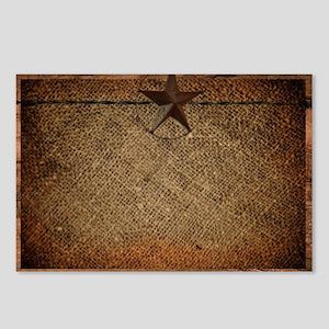 burlap barn wood texas st Postcards (Package of 8)