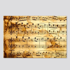 Classical Musical Notes Postcards (Package of 8)