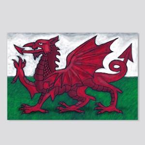 Wales Flag Postcards (Package of 8)
