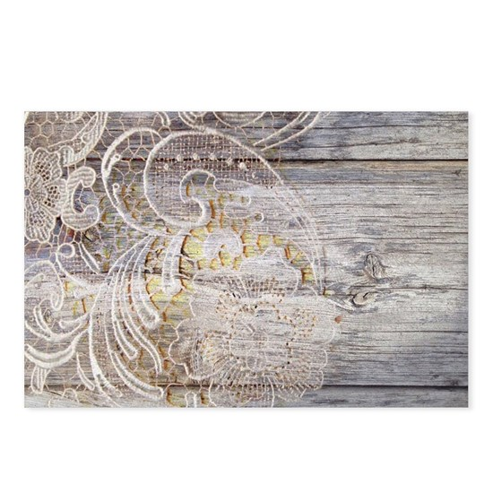 country barn wood lace