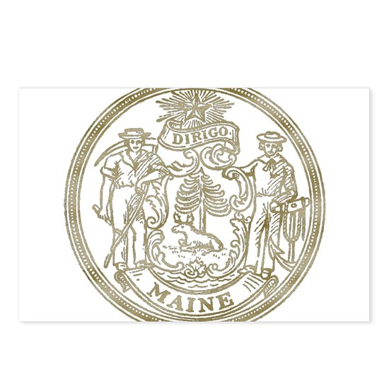 Maine State Seal Postcards Package Of 8 By Dan Cafepress