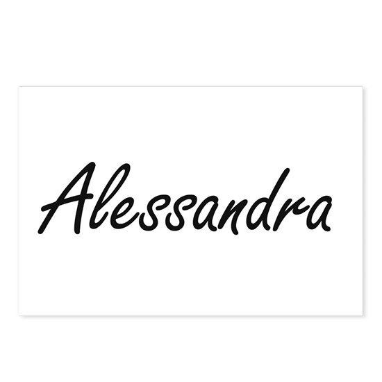 Alessandra artistic Name Postcards (Package of 8) by ...