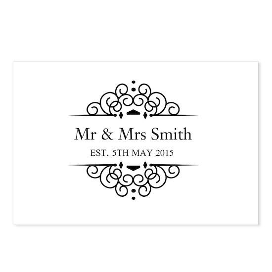Custom Couples Name And Wedding Date Postcards Pa