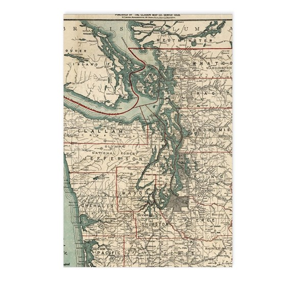 Vintage Map of The Puget Sound (1910)