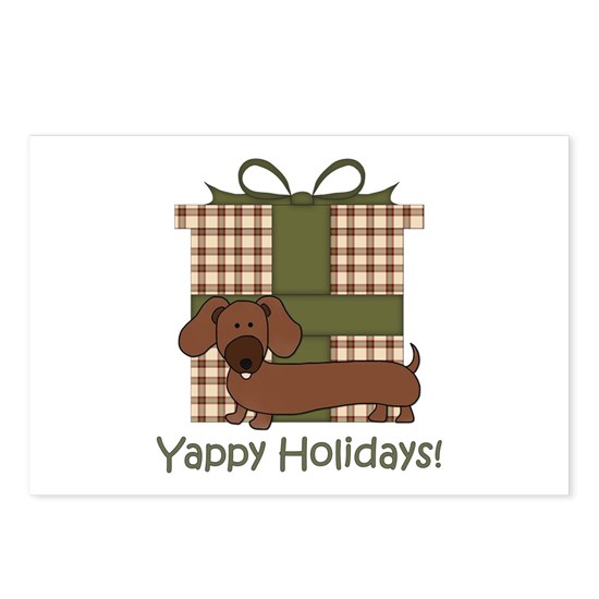 Yappy Holidays Christmas Dachshund