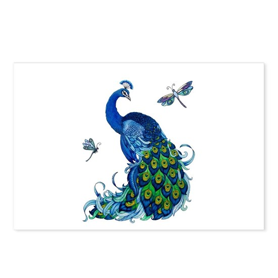 Blue Peacock and Dragonflies