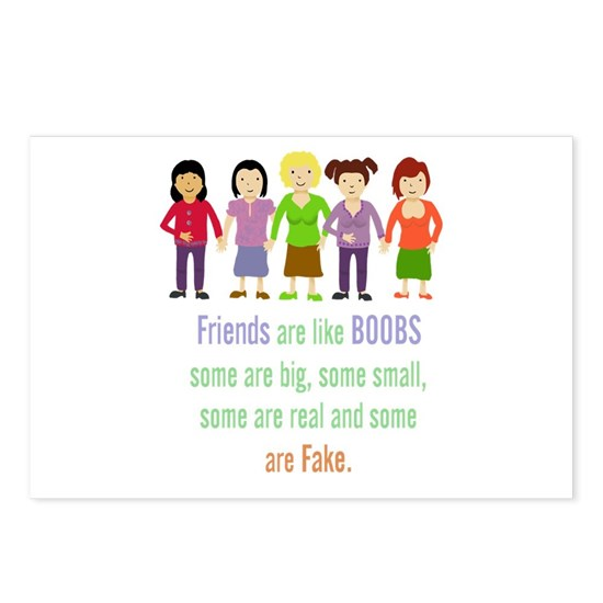 Friends are like Boobs Fun Friendship Quote