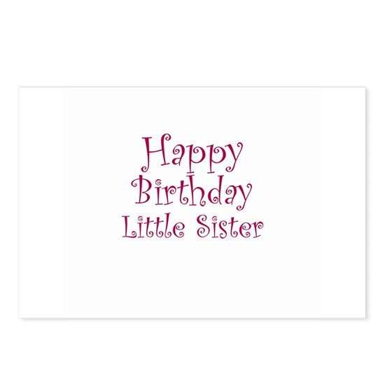 Happy Birthday Little Sister Postcards (Package of