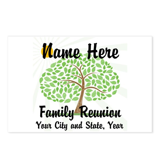 ffb1d0f63 Customizable Family Reunion Tree Postcards (Packag by Angela - CafePress