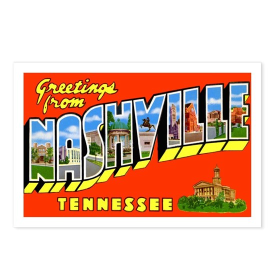 Nashville Tennessee Greetings Postcards (Package O By
