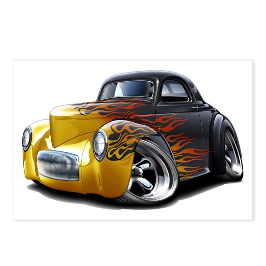 1941 Willys Black-Flames Car