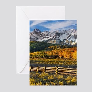 Autumn Mountain Landscape Greeting Cards