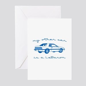 my other car is a lebaron Greeting Cards (Pk of 10
