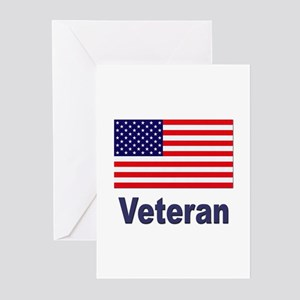 American Flag Veteran Greeting Cards (Pk of 10