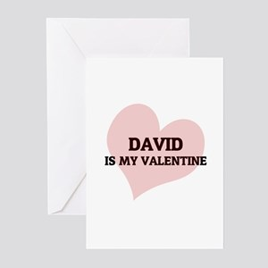 David Is My Valentine Greeting Cards (Pk of 10