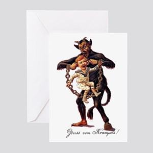 Gruss vom (Greetings From) Krampus Greeting Cards