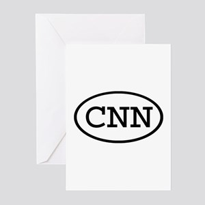 CNN Oval Greeting Cards (Pk of 10)