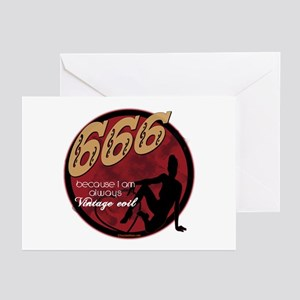 666 Devilish Sign Female Greeting Cards (Pk of 10)