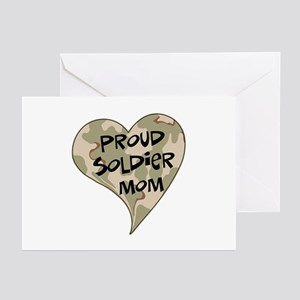 Proud soldier mom Greeting Cards (Pk of 10)