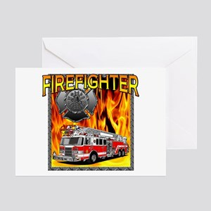 LADDER TRUCK Greeting Cards (Pk of 10)