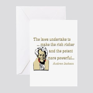 Andrew Jackson on the law Greeting Cards (Pk of 10