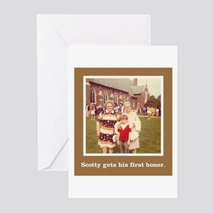 'Scotty's First Boner' Greeting Cards (Pk of 10)