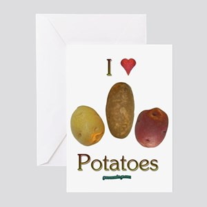 I Heart Potatoes Greeting Cards (Pk of 10)