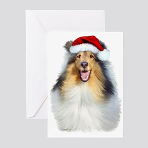 Santa Collie Greeting Cards (Pk of 10)