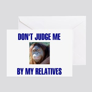 DON'T JUDGE ME Greeting Cards (Pk of 10)