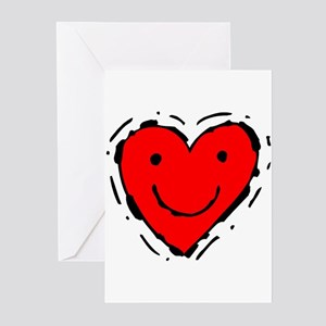 Smiling Heart Greeting Cards (Pk of 10)