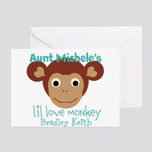 Personalize Love Monkey Greeting Cards