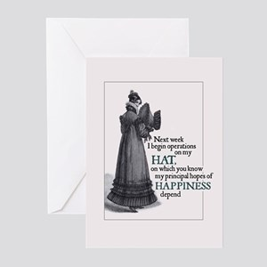 Jane Austen Hat Greeting Cards (Pack of 10)