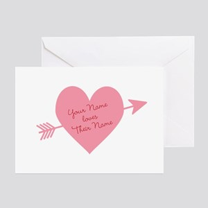 Personalized Valentine H Greeting Cards (Pk of 10)