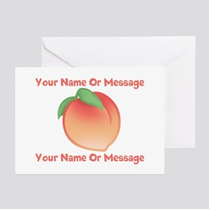 PERSONALIZED Peach Cute Greeting Cards (Pk of 10)
