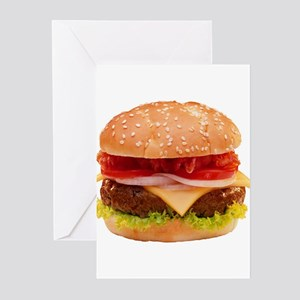 yummy cheeseburger photo Greeting Cards (Pk of 10)