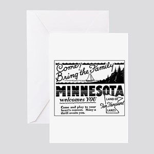 Thrilling Minnesota Retro Ad Greeting Cards (Packa