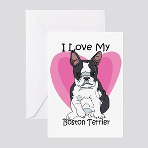 I Luv My Boston Terrier-2 Greeting Cards (Package